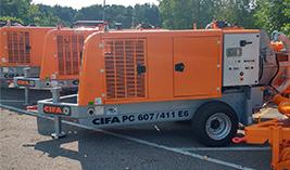 Bombas estacionarias | Distribucion de maquinas de construccion BARYSERV