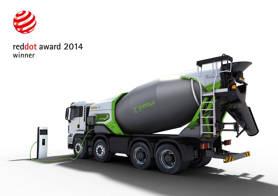 Camion hormigonera electrico sostenible
