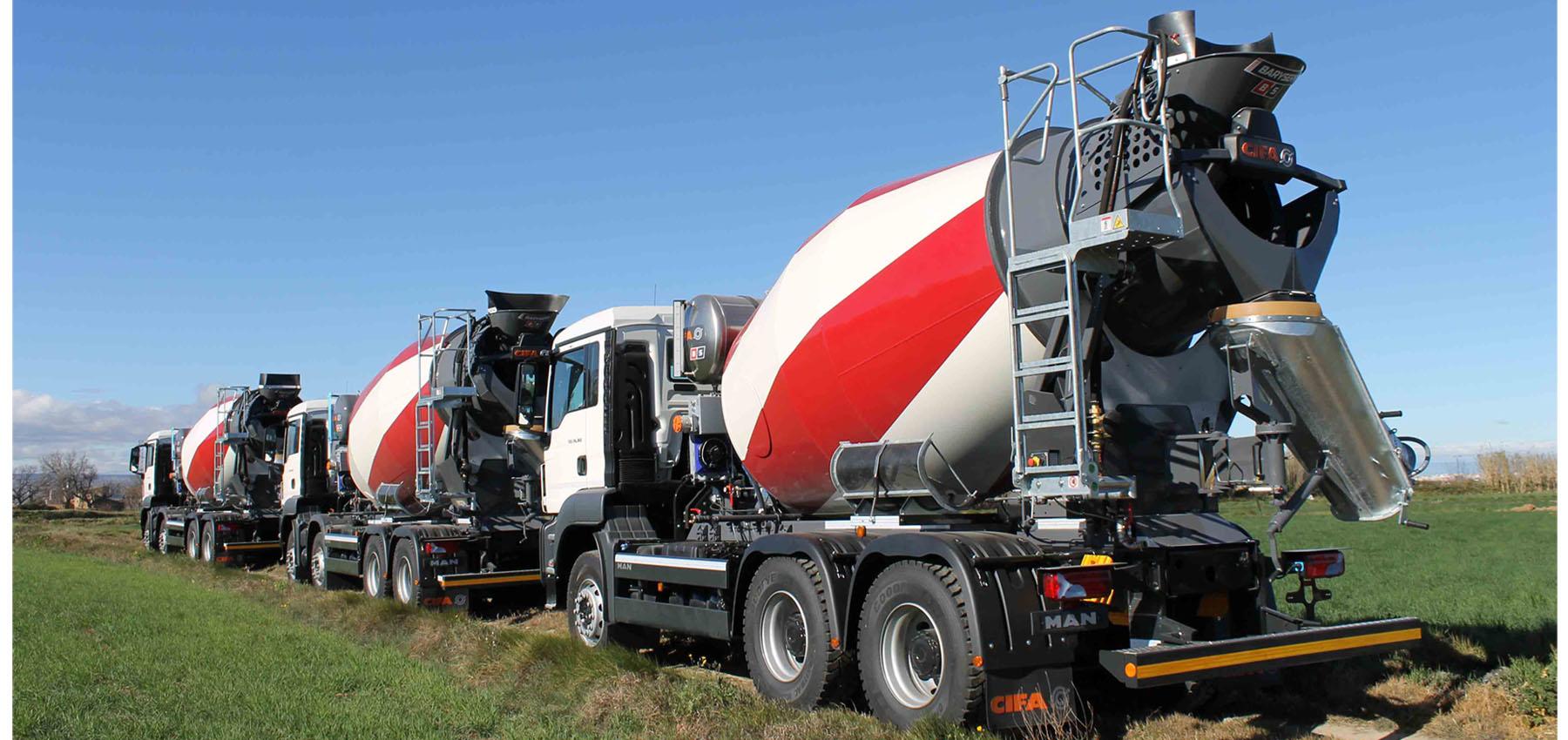 Hormigoneras sobre camion